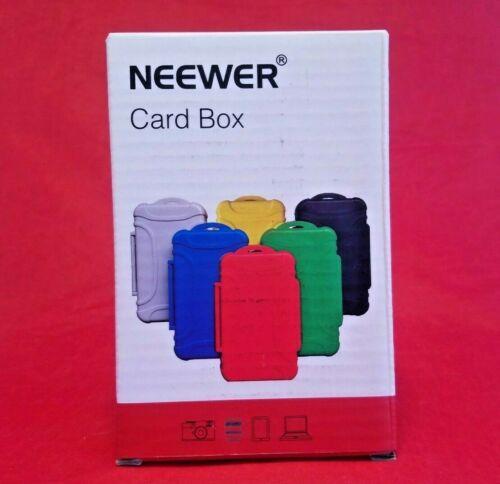 Neewer 14 Slots Memory Card Case Holder Waterproof Storage Cards Box - Black