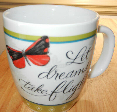 Marjolein Bastin Nature Coffee Cup Mug Butterfly ~ Let Dreams Take Flight New