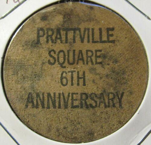 Vintage Prattville Square Mall Prattville, AL Wooden Nickel - Token Alabama