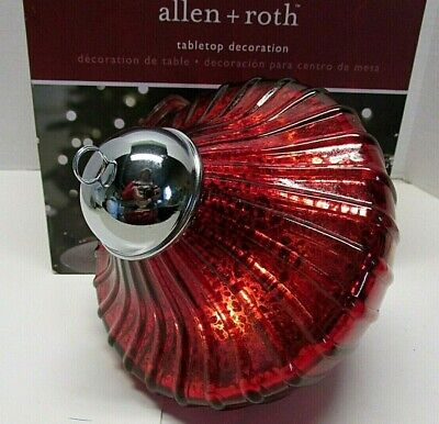 """Allen + Roth Christmas Tabletop Decoration Centerpiece Decor Red LED Lights 6"""" ()"""