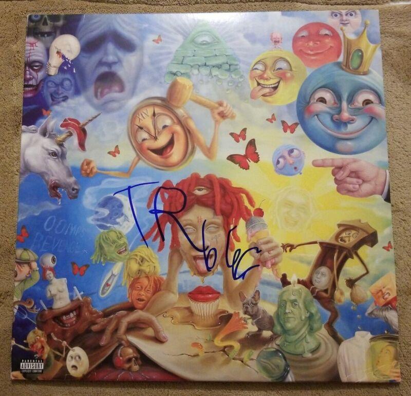 TRIPPIE REDD signed auto LIVES A TRIP Vinyl LP RARE