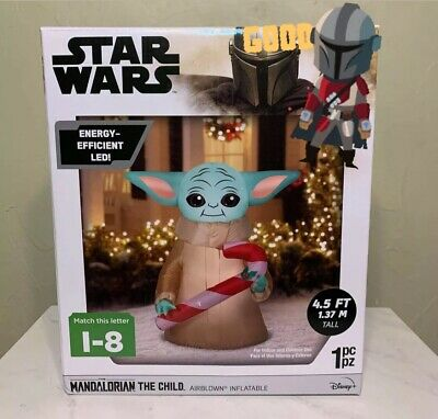 Star Wars MANDALORIAN THE CHILD Baby Yoda Airblown Inflatable 4.5 ft Christmas