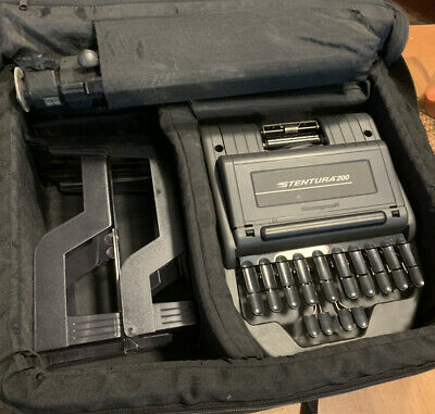Stentura 200 Stenograph Steno Machine With Carry Bag