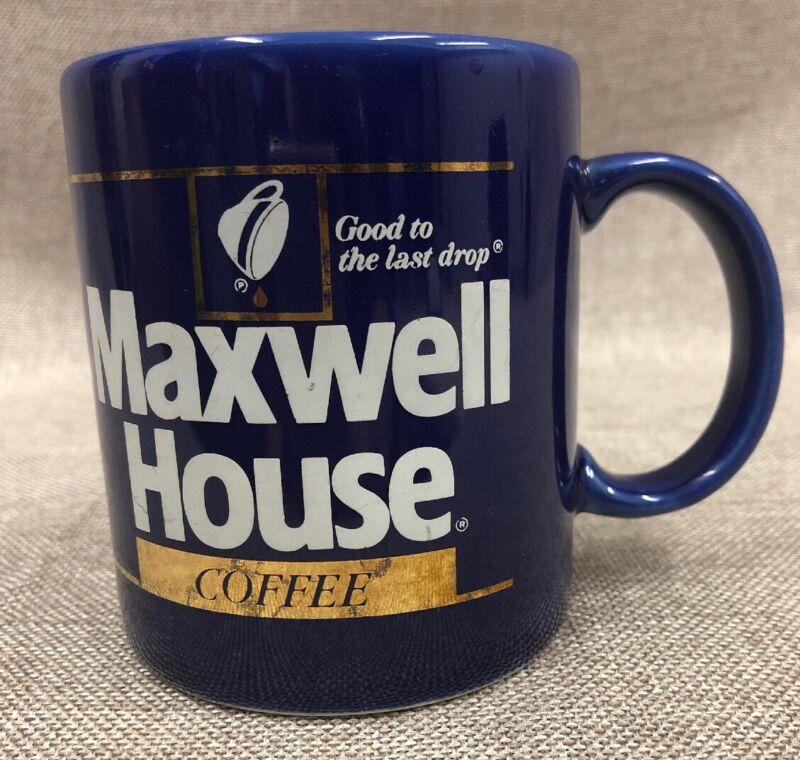 Vintage Maxwell House Coffee Mug Deep Blue Color