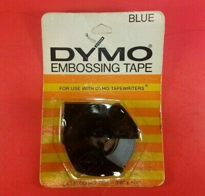 Vintage 1971 Dymo Blue Embossing Labeling Tape 7291 Nos Sealed Pack Label Roll