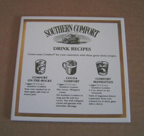 "Southern Comfort Bar Tile Sign Advertising Plaque Bar Pub Lot of 2 6""x6"" NOS"