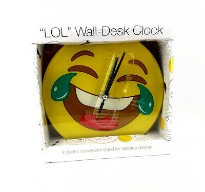 LOL Wall-Desk Clock Laughing With Tears Yellow Happy Face Emoji  ](Laughing With Tears Emoji)