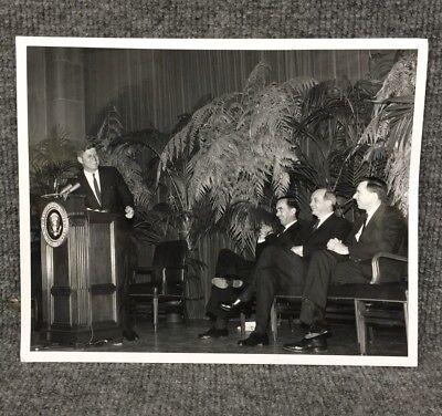 President John F. Kennedy JFK 1962 Voice Of America Original Press Photo A13