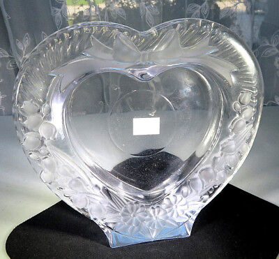Studio Nova Amour Clear Frosted Glass Heart Shape Picture Frame Made in Japan