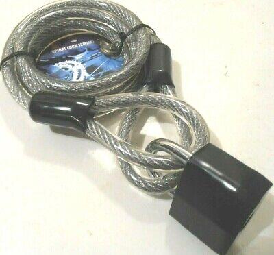 "Hiplok Cable Bike Lock POP1AB 48/"" x10mm fits 24-42/"" Waist Belt Blue For Charity!"