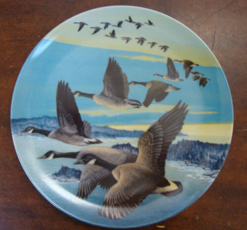 Canadian Wildlife Plate Wings Upon the Wind Southward Bound Dominion China