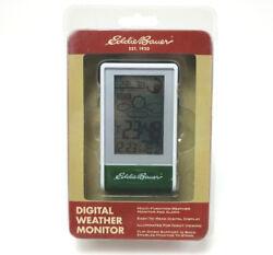 Digital Weather Monitor Eddie Bauer LCD Indoor Outdoor Temperature Alarm Clock