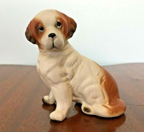 "Vintage LEFTON St Bernard Puppy Dog Figurine #8286, 4.25"" w/original tag"