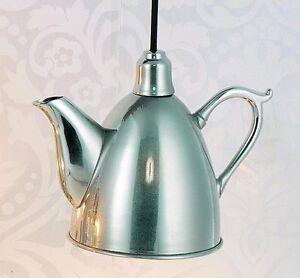 Hoff-Interieur-5669-Lampara-Colgante-034-tea-pot-034-25-X-12-5-x-18cm-laton-plateado