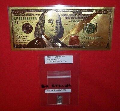 Best Junk Drawer: Silver & bill lot / a 24k gold foil bill / 1 gram silver bar