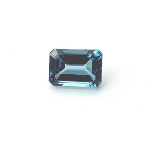 London Blue Topaz Loose Gemstone 10x14 Emerald Cut (9.17 Carats)