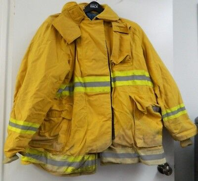 Fyrepel Firefighter Turnout Gear Bunker Padded Jacket Yellow Size X-large 9
