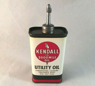 Kendall 2000 Mile Oil Metal Sign Gas Repair Shop 12x12 50079