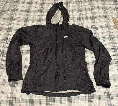 Helly Hansen Full Zip Light Hooded Rain Jacket Gray Size Small -