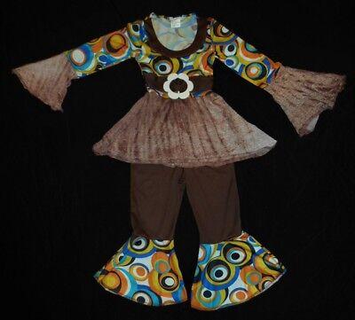Go Go Dancer Retro Disco Girl Fantasy Play Halloween Costume Size 3-6-Washed