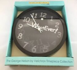 George Nelson By Verichron WhatEver! Lenticular Face Black Wall Clock 10