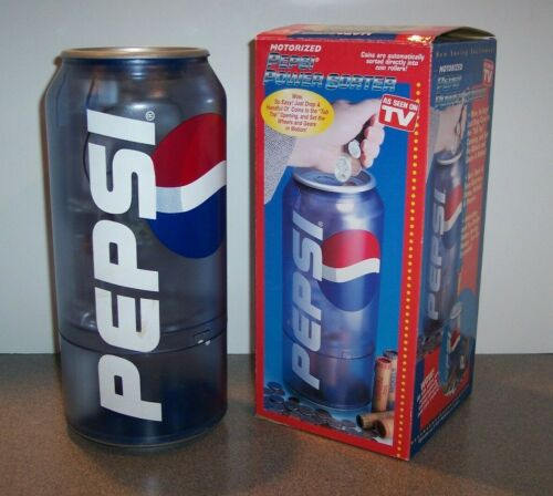 """12"""" MOTORIZED PEPSI CAN POWER COIN SORTER IN BOX #2905"""