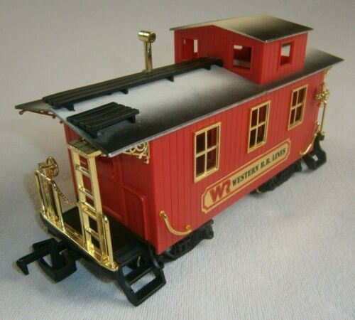 """VTG 9"""" CABOOSE RAILROAD G SCALE CAR FROM """"THE GREAT AMERICAN EXPRESS"""" TRAIN SET"""