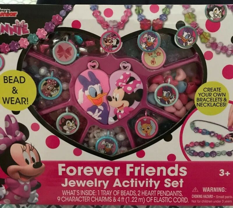 Disney Junior Minnie Mouse Jewelry Bead & Wear Forever Friends Activity Set New!