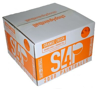 Shop4Paintball - ORANGE CRUSH - .68 Cal Paintballs Orange/Orange - Case of 2000