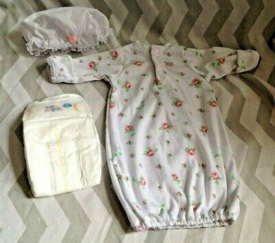 Reborn doll clothes,newborn size clothes ,nappy ,bundle
