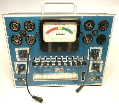 Eico 625 Tube Tester - Works Great Good Rolling Chart - Nice Condition