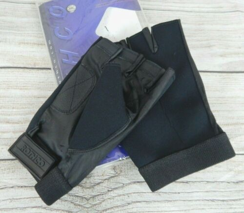 Rothco #3460 Fingerless Neoprene Gloves Tacky Synthetic Leather Palm Size XXL