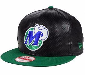 Dallas Mavericks NBA New Era 9FIFTY Faux Leather Adjustable Snapback Cap Hat