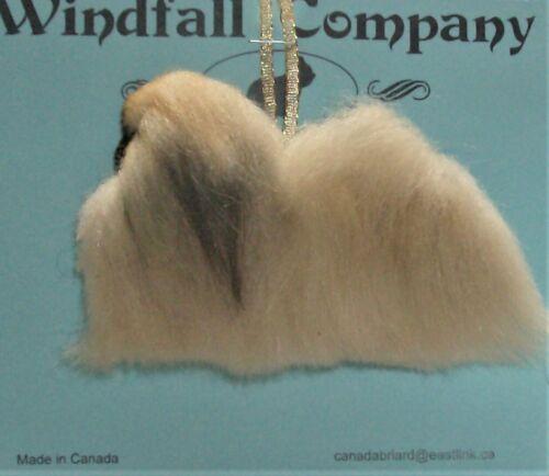 Pekingese Dog Soft Plush Christmas Canine  Ornament by WC
