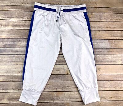 FABLETICS Womens Size Large L Athletic Workout Jogger White Pants Capri