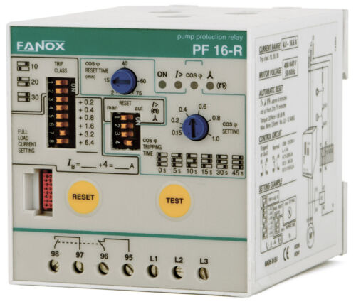Fanox PF47RV400 3-Phase Pump Protection Relay (without level sensor) 10-30HP