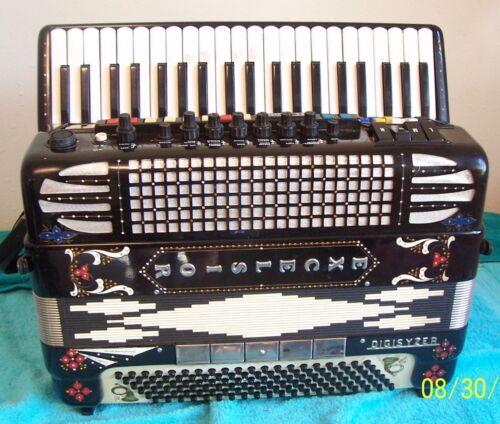 Rhinestone Excelsior Digisyzer Accordion 4/5 reeds 120 bass accordian G Cond. #3