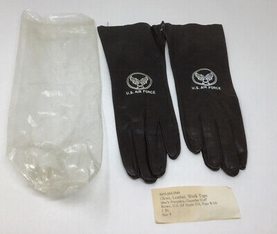 NOS Vintage US Air Force USAF Type B-3A Summer Leather Flying Gloves SZ: 9