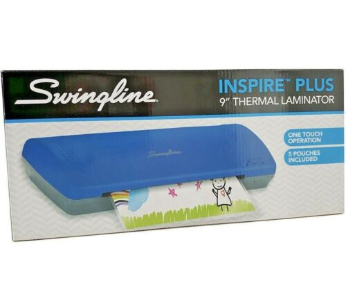 Swingline One Touch inspire plus thermal laminator W/5 Free Pouches-Blue Genuine