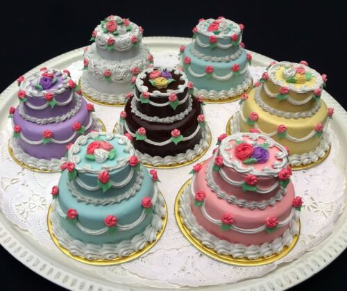 Two Tier Fake Mini Cakes Look Real
