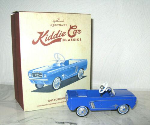 Hallmark Blue Kiddie Car Classics 1965 Ford Mustang Christmas Ornament Metal