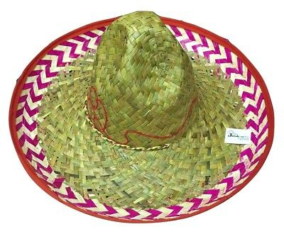 Red Salsa Spanish Mexican Fiesta Festive Sombrero Hat Costume Cinco de Mayo