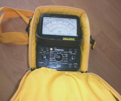 Simpson 260 Series 6p - Analog Multimeteryellow Carrying Case - See Notes