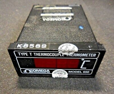 Omega Inc. 650t Type T Thermocouple Digital Thermometer 120 Vac Option X