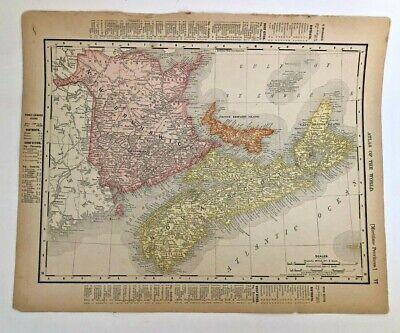 A4 Reprint of Nova Scotia Acadia Map Canada