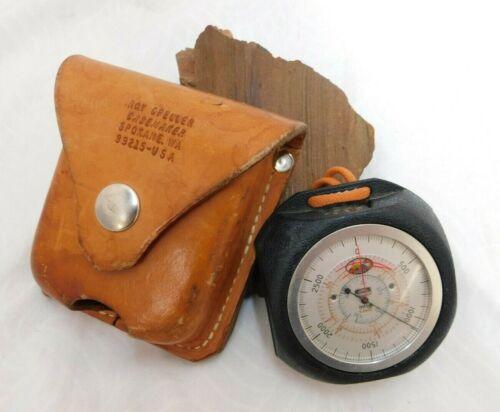 Vintage Thommen Altimeter/Barometer 19 Jewels 15000ft W/GFELLER CASE