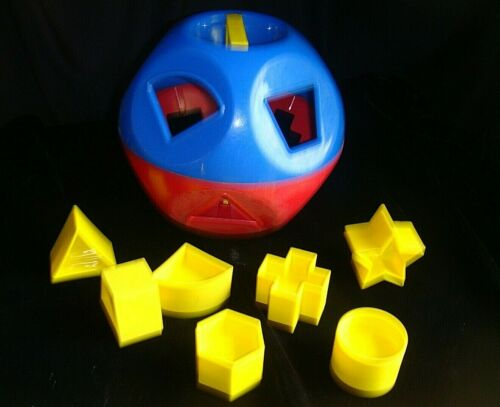 vtg SHAPE BALL TUPPER TOY Tupperware FOR PARTS 3 missing