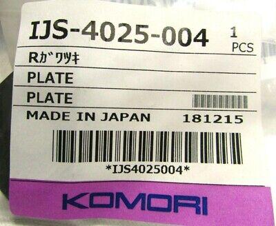 Genuine Oem Komori Plate Ijs-4025-004 Printing Part Offset Printer Saa 01 New