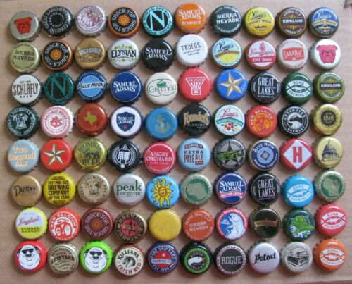 80 DIFFERENT MIXED USA MICRO CRAFT BEER BOTTLE CAPS