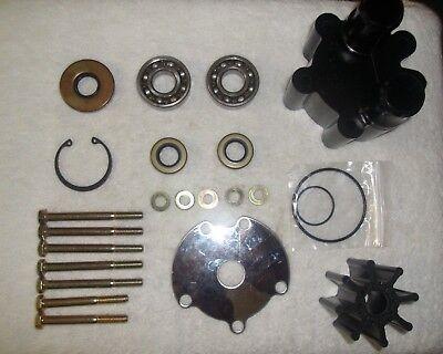 Mercruiser Raw Water Pump - Complete MerCruiser Bravo Raw Water Pump Impeller Kit W/ Bearings 46-807151A14